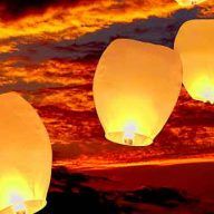 Eco White Lanterns