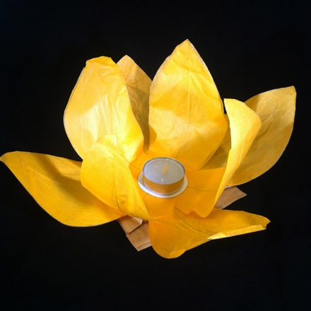 Floating Lotus Water Lanterns Orange