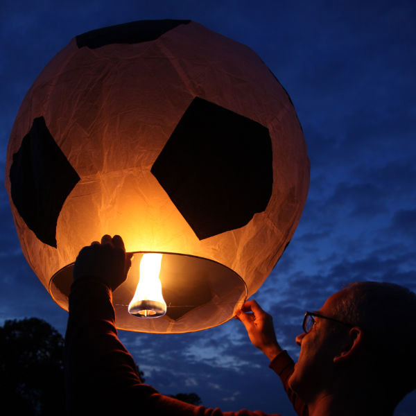 Giant Black and White Football Sky Lantern