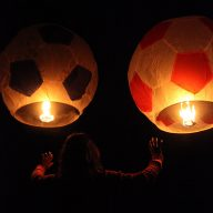 Giant Football Sky Lanterns