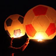 Giant Football Sky Lanterns Launch