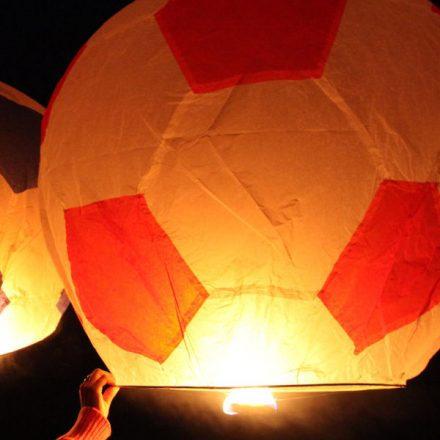Giant Red and White Football Sky Lantern