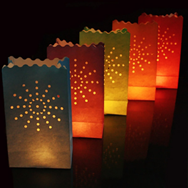 Mixed Colour Candle Bags