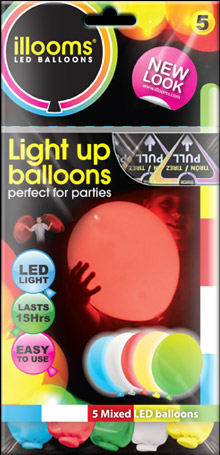 Mixed Illoom Balloons 5 Pack