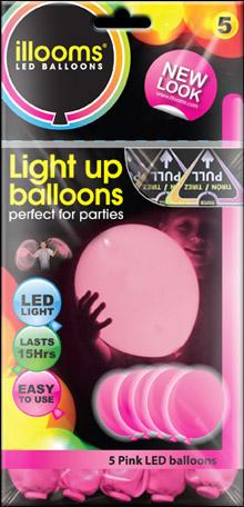 Pink illoom Balloons 5 Pack