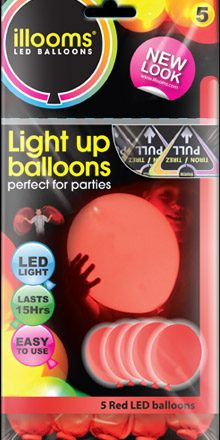 Red illoom Balloons 5 Pack