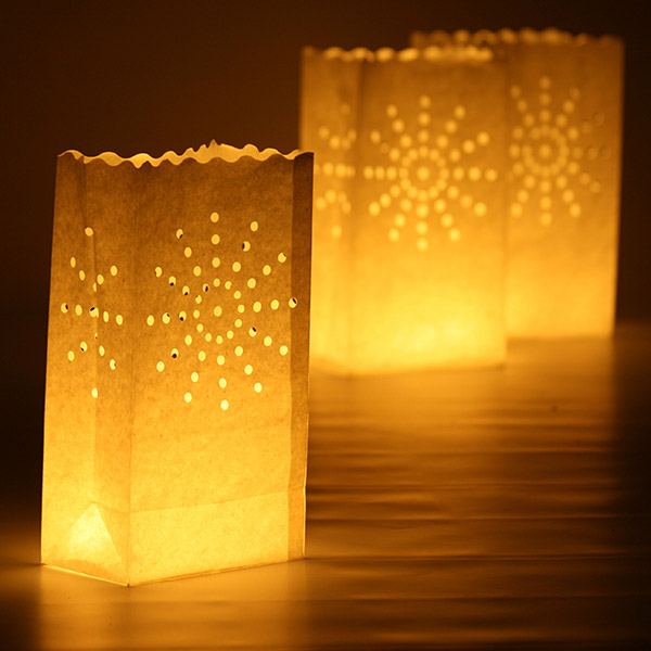 Star Candle Bags White